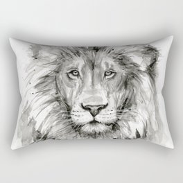 Lion Watercolor Rectangular Pillow