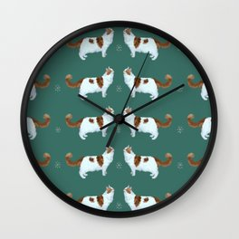 Brady the Cat Pattern Wall Clock