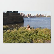 waiting by the bridge  Canvas Print