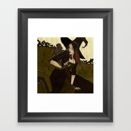 The Grumpy Familiar Framed Art Print