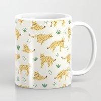 cheetah Mugs featuring Cheetah by Sara Maese