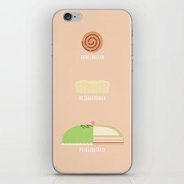 Swedish Desserts iPhone Skin