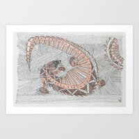 Lizards drinking Art Print