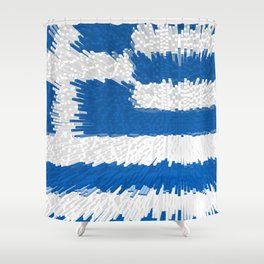 Extruded flag of Greece Shower Curtain