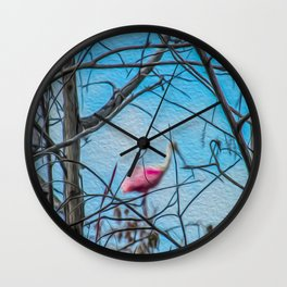 The Rose in the Tree Wall Clock