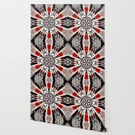 Red And Black Helping Hands Mandala Wallpaper