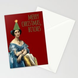 Merry Christmas, Bitches! - Ingres in Green and Red Stationery Cards