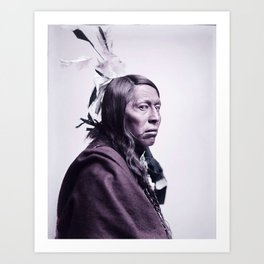 Flying Hawk  1852-1931 Member of Bufalo Bill's Wild West Show, about 1900 Oglala Sioux Infrared art Art Print