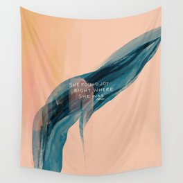 She Found Joy Right Where She Was. Wall Tapestry