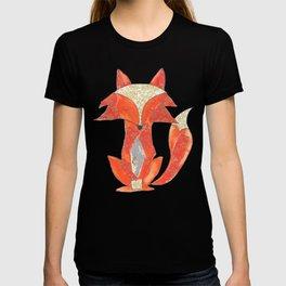 Orange Zen Fox T-shirt