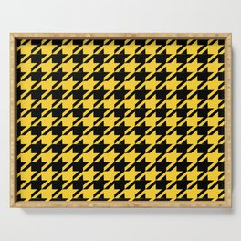 Yellow Houndstooth Serving Tray