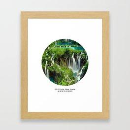 002: Plitvice Lakes, Croatia. Framed Art Print