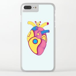 Yellow Submarine Heart Clear iPhone Case