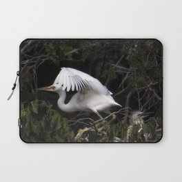 Egret Learning to Fly Laptop Sleeve