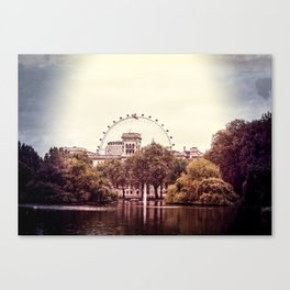 Whitehall & the London Eye from St James's Park Canvas Print