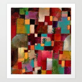 Paul Klee - Digital Remastered Edition - Red Green and Violet Yellow Beat Art Print