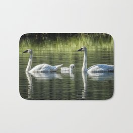 Family of Swans, No. 2 Bath Mat