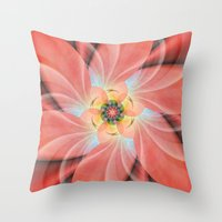 cherry blossom Throw Pillows featuring Cherry Blossom by Christine baessler