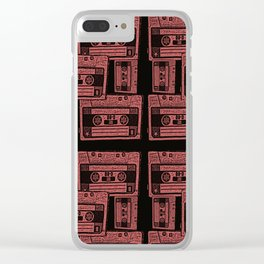 stereo tape pattern Clear iPhone Case