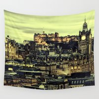 edinburgh Wall Tapestries featuring Edinburgh by EclipseLio