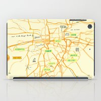 maps iPad Cases featuring Maps - Pretoria by DRIEHOEK
