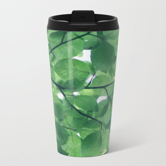 Greenery leaves Metal Travel Mug