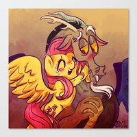 mlp Canvas Prints featuring MLP: Fluttercord by Erika Draw