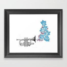 cornet. Framed Art Print