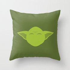 Star Wars Minimalism - Yoda Throw Pillow
