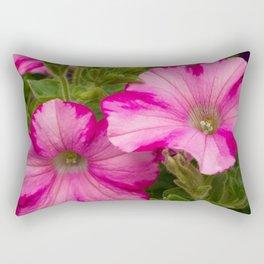Pink Pansies Rectangular Pillow