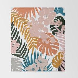 Palms & Bloom Throw Blanket