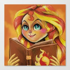 Sunset Shimmer :: Dear Princess Twilight Canvas Print