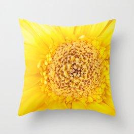 Sunny Summer Love - Yellow Gerbera #1 #decor #art #society6 Throw Pillow