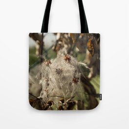 Bushes with starseeds surrounded with white aura Tote Bag