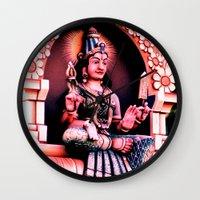 hindu Wall Clocks featuring Hindu 1 by very giorgious