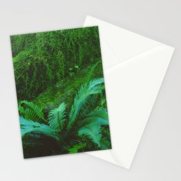 Mystical Green Fern Leaves in the Enchanted Forest Stationery Cards