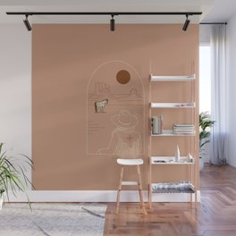 Lost Pony - Pink Clay Wall Mural