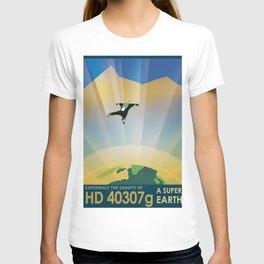 NASA Retro Space Travel Poster #6 T-shirt