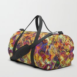 V15 Lovely Traditional Moroccan Pattern Colored Design Waves. Duffle Bag