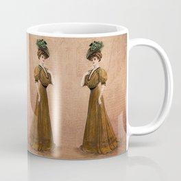 Woman in yellow dress Edwardian Era in Fashion Coffee Mug