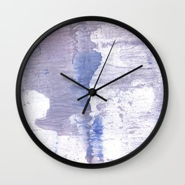 Purple Blue abstract wash drawing painting Wall Clock