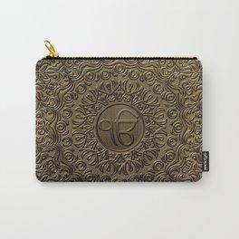 Decorative Ek Onkar / Ik Onkar  embossed on gold Carry-All Pouch