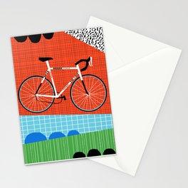 Sporty - bicycle art, schwinn paramount, biking, cycling art print, retro, memphis art print Stationery Cards
