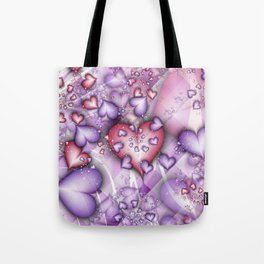 Candy Hearts Fractal Tote Bag