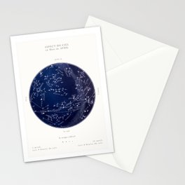 French April Star Maps in Deep Navy & Black, Astronomy, Constellation, Celestial Stationery Cards