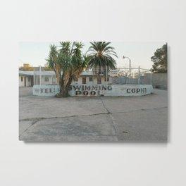 Copper Motel Swimming Pool Metal Print