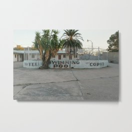 Copper Motel Swimming Pool Metal Print