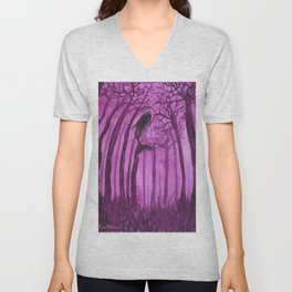 Moby´s Forest - Purple Unisex V-Neck
