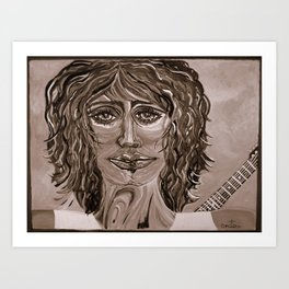 Guitar back me up Warm Art Print