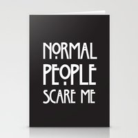 ahs Stationery Cards featuring Normal People Scare Me AHS by Double Dot Designs